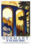 Vintage Germany Black Forest Travel Poster